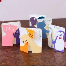 small animals children s day greeting card creative
