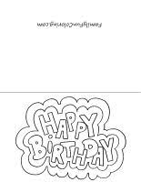 printable birthday cards that you can color free printable birthday cards quick and easy to print and color