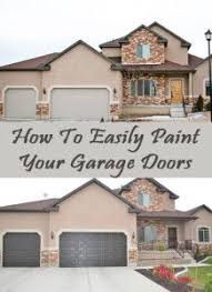 how to easily paint your garage doors we used a few tips that