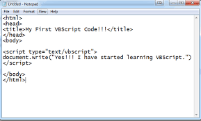 visual basic tutorial in hindi pdf to vbscript