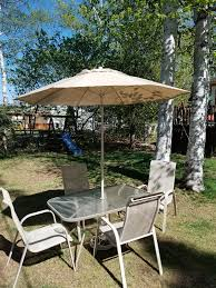 patio table with 4 chairs patio set table 4 chairs umbrella patio garden furniture