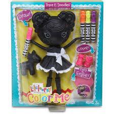 lalaloopsy color me doll trace e doodles walmart com