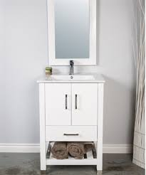 Bathroom Vanity 24 Inch by A 24 Inch Bathroom Vanity With Open Bottom Shelf For Towels Or