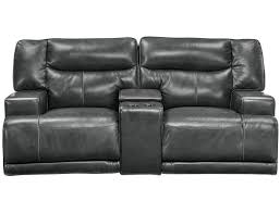 ashley reclining sofa parts ashley barrettsville 2 seat leather power reclining sofa in electric