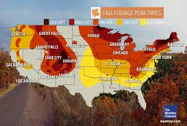 maryland foliage map 2015 when does your city see peak fall color the weather channel