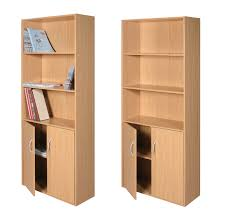 Solid Wood Bookcases With Glass Doors Furniture 4 Shelf Bookcase With Glass Doors 5 Shelf Bookcase