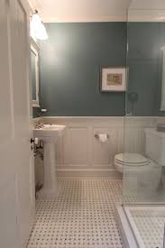 Bathroom With Wainscoting Ideas Small Bathroom Wood Wainscoting Vs Subway Tile In Master Bath