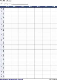 excel weekly calendar how to create a weekly 24 hour calendar