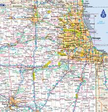 atlas road map reference map showing major highways and cities and roads of west