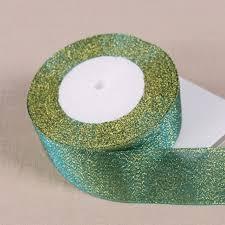 glitter ribbon wholesale 25yards roll 40mm blue metallic glitter ribbon colorful gift