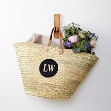 monogrammed baskets monogrammed basket with handles by tillyanna