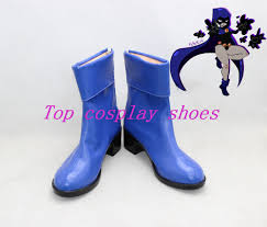 wholesale teen titans raven blue cosplay shoes boots shoe boot