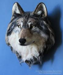 Wolf Home Decor by Wolf Head Made To Order Needle Felted Wall Decor Native Wool