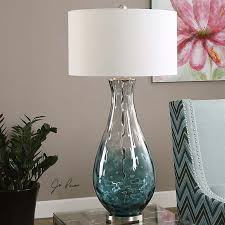 Buffet Lamps With Black Shades by Vignettes