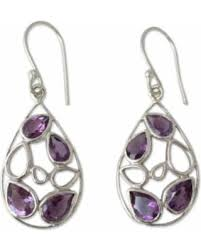 gujarati earrings amazing shopping savings novica handmade sterling silver lilac