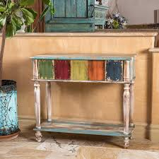 Wood Console Table Amazon Com Leo Solid Wood 2 Drawer Console Table In Antique