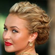 curly hairstyles updos easy easy holiday curly half updo hairstyle