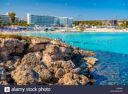 ayia napa cyprus april 04 2016 sunny day at nissi beach in