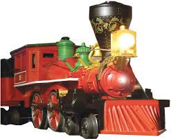 toy train steam engine from the front of our