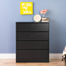 Home Depot Design Your Own Room Prepac Astrid 4 Drawer Black Chest Bdbr 0401 1 The Home Depot