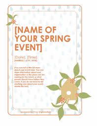 spring event flyer template expin radiodigital co