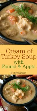 of turkey soup with fennel and apple a family feast