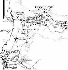 Reading Pennsylvania Map by Bennington Furnace