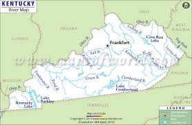 map kentucky lakes rivers kentucky rivers map rivers in kentucky