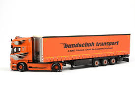diecast model wsi 1 50 scania r6 topline 4x2 curtain side trailer