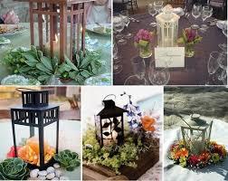 Wedding Centerpiece Lantern by Wedding Centerpiece Wood Flowers Succulents Lantern Centerpieces