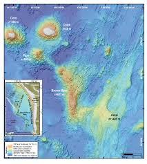 Oregon Map Coast by Undersea Volcanoes Off The Coast Of Oregon Ocean Acoustics Program