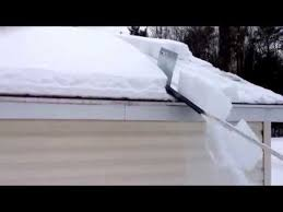 snow shredder roof cleaner youtube piece of sheet metal 3 4