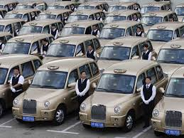 golden cars in shanghai the famous london u0027black cab u0027 is now gold business