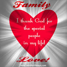 i thank god for my family word for says