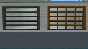 Modern Doors Mod The Sims Ap Patio Garage Door Modern