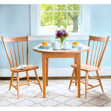round shaker dining table handmade in usa with natural solid hardwoods
