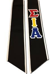 graduation stole sigma iota alpha graduation stole