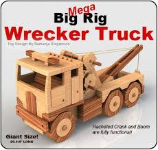 mega big rig wrecker truck wood toy plan set wooden toys
