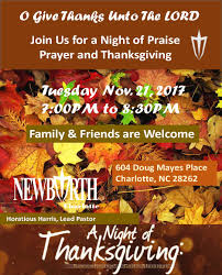 of praise prayer and thanksgiving new birth