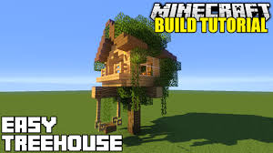 Treehouse Design Software by Minecraft How To Build A Treehouse Tutorial Simple U0026 Easy