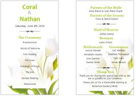 formal wedding program wording wedding program exles outside the box wedding