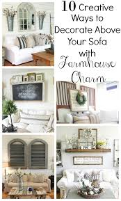 creative ways to decorate above the sofa little vintage nest