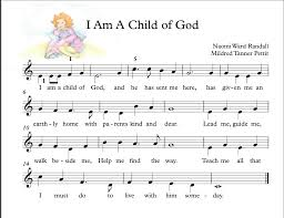 easy piano i am a child of god big notes by amanda