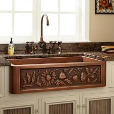 Kitchen Barn Sink 33 Floral Design Copper Farmhouse Sink Kitchen