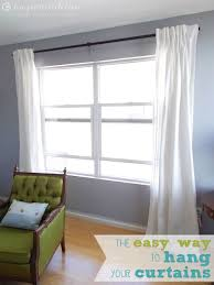 How To Hang A Drapery Rod The Easy Way To Hang Your Curtains Love Pomegranate House