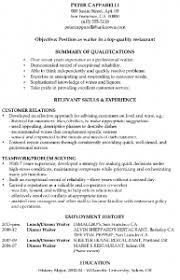 Waitress Resume Example by Full Size Of Resumefine Dining Waiter Resume Resume For Production