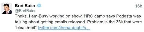 bret baier email team denies dump the emails bombshell is damning bret