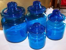 28 cobalt blue kitchen canisters vintge cobalt canisters