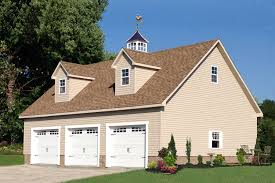 a 28x38 prefab three car garage from the amish in lancaster pa