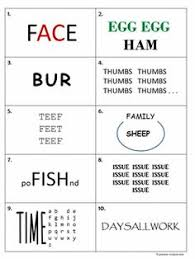 here is a printable set of rebus puzzles the answers are included